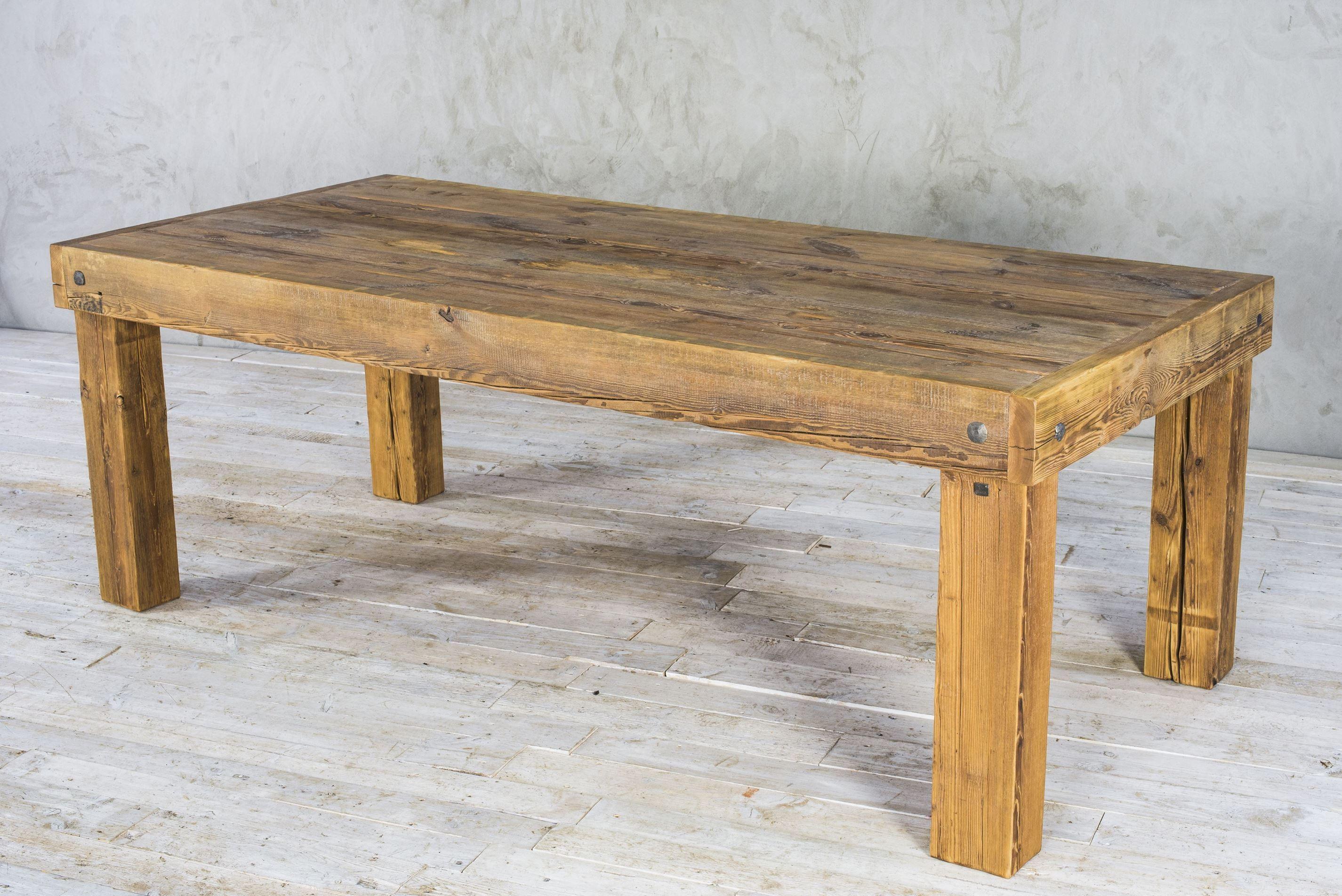 Stół drewniany - zachowana stara powierzchnia No. 25