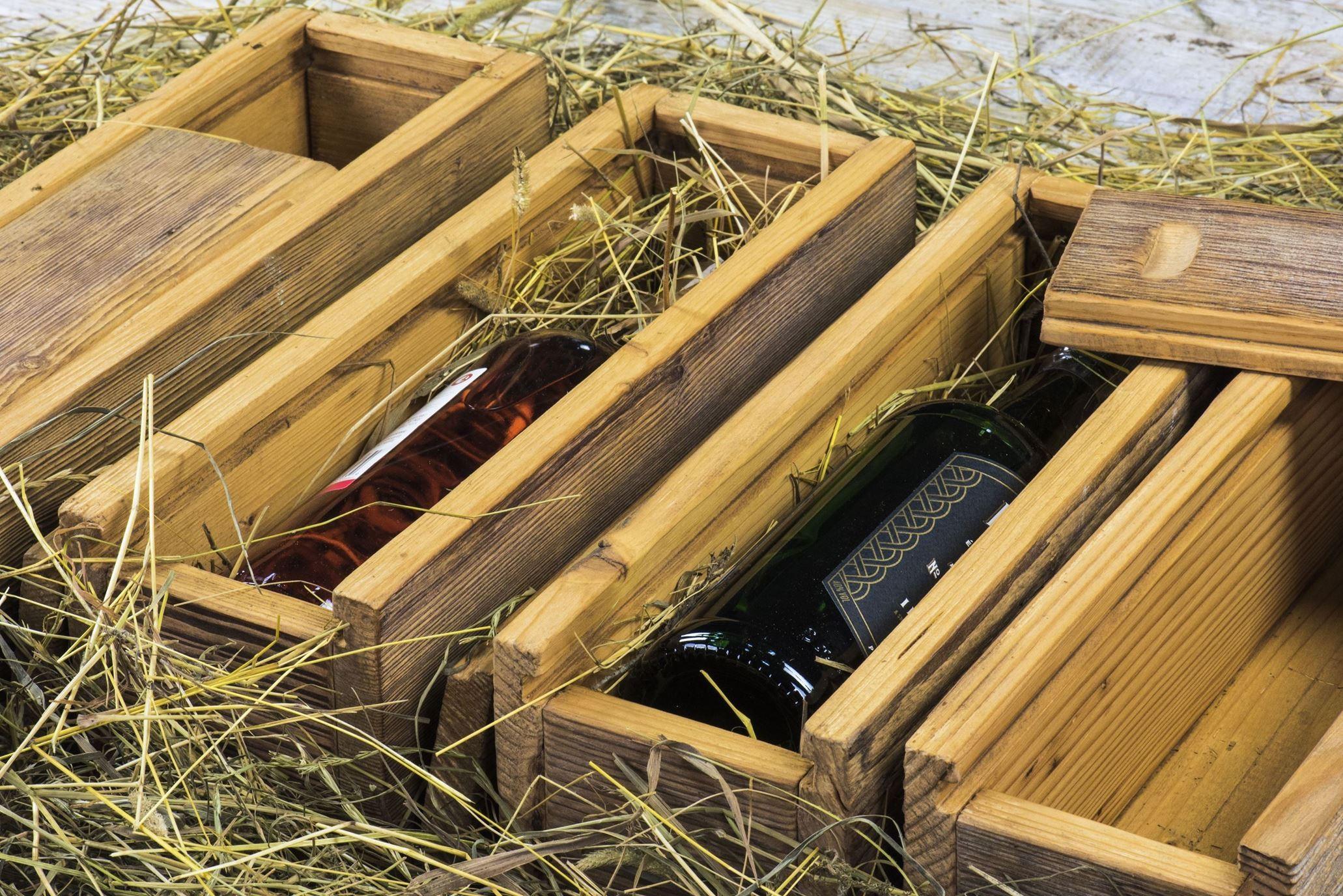 Skrzynka na wino - stare drewno