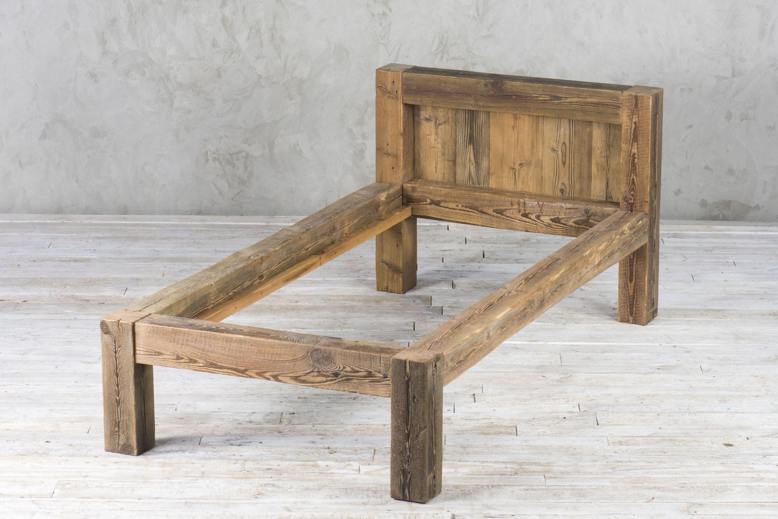 Łóżko ze starych belek 90x200 v2