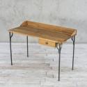 Biurko ze starego drewna na metalowej podstawie no. 382