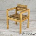 Krzesło ze starego drewna No. 398 - stare dechy