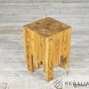 Recyklingowy stołek ze starych desek Np. 160 - przyciemniony