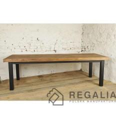 industrialny-stol-ze-starego-drewna-na-profilach-z-odzysku